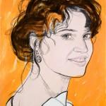 "Крисс Гуэнцати Дубини ""Девушка на оранжевом фоне"" 2008"