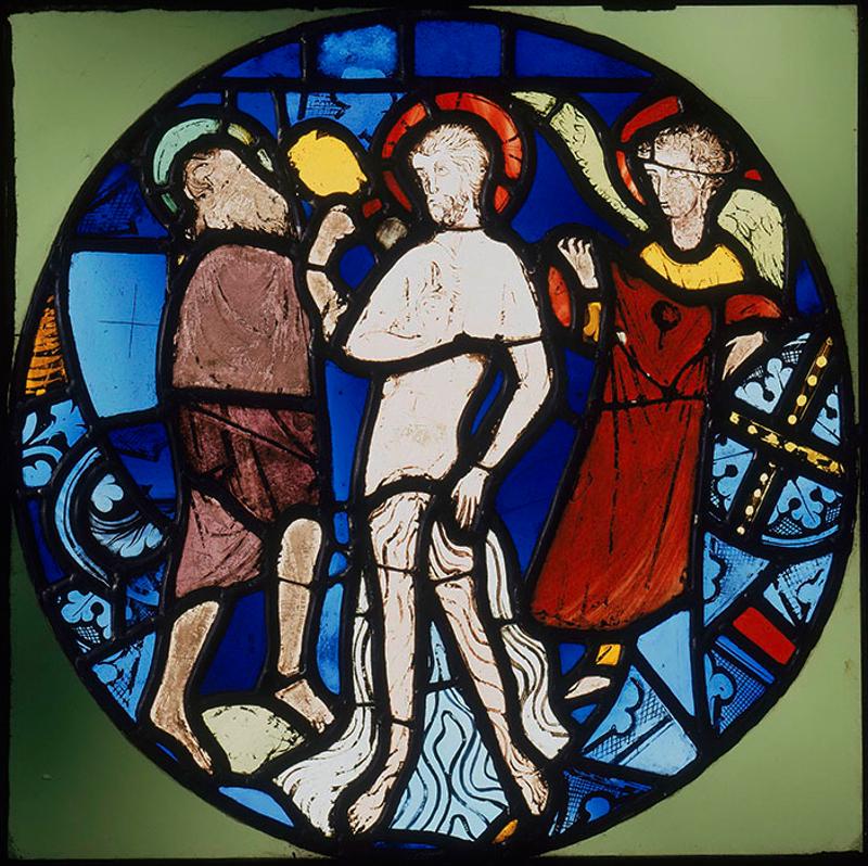 """""""Крещение Христа"""". Витраж из Сент-Шапель"""