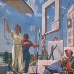 """Александр Дейнека """"Эскиз мозаики """"Мирные стройки"""" 1959–1960"""