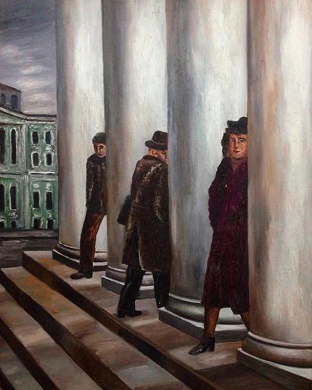 """Наталья Нестерова """"Колоннада"""" 1983"""