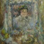 Екатерина Григорьева «Автопортрет со свечой» 1975