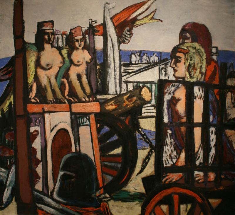 """Макс Бекман """"Транспортировка сфинксов"""" 1945"""