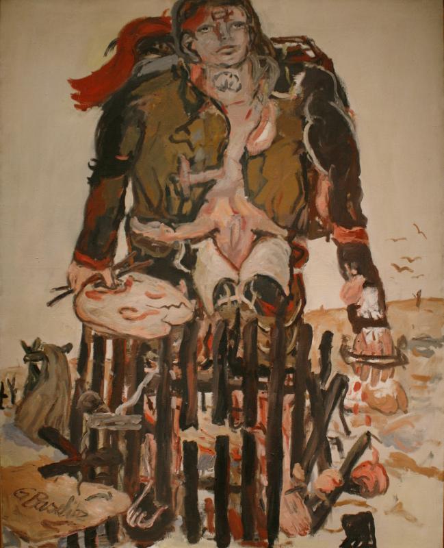 """Георг Базелиц """"Разные знаки"""" 1965"""