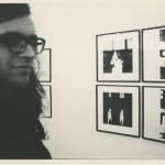 Тынис Винт перед своими работами на выставке «Саку 73». Фото: Яан Клышейко