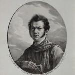 """А.О. Орловский """"Автопортрет с альбомом и рейсфедером"""" 1820"""