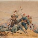 """В.П. Шрейбер """"Геройская смерть майора 61-го пехотного Владимирского полка Ф.М. Горталова 31 августа 1877 года под Плевной"""" 1890-е"""
