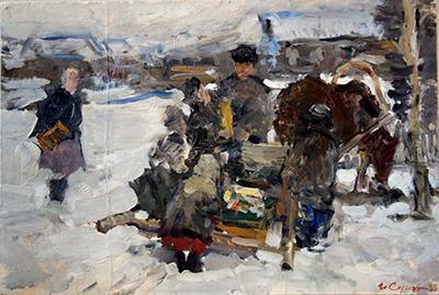 """Иван Сорокин """"Эскиз"""" 1953"""