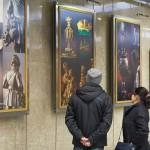 Фотовыставка в Московском метрополитене.