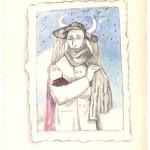 """Алиса Порет """"Портрет (лист из альбома)"""" Вторая половина 1930-х"""