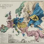 """Неизвестный автор """"Мститель. Аллегорическая карта войны на 1877 год. Политическая карикатура"""". Лондон, конец 1870-х"""