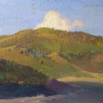 "Исаак Левитан ""На вершинах Яйлы. Этюд"" 1886"