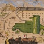 Бой на Театральной площади. Неизвестный автор. Москва. Октябрь – ноябрь 1917