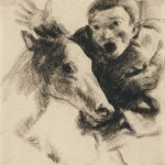 """Василий Чекрыгин """"Головы раба и лошади"""" Начало 1920-х"""