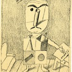 Генрих Сапгир. Копия рисунка Виктора Пивоварова. 1987