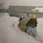 """Алексей Степанов """"Зимой в деревне"""" 1910-е"""