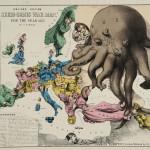 """В. Роуз """"Трагикомическая карта войны 1877 года"""" Лондон, конец 1870-х"""