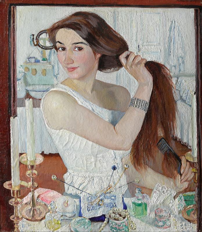 """Зинаида Серебрякова """"За туалетом. Автопортрет"""" 1909"""