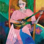 """Аристарх Лентулов """"Женщина с гитарой"""""""