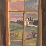 """Николай Андронов """"Окно. Вид на монастырь. Ферапонтово"""" 1998"""