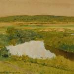 "Исаак Левитан ""К вечеру. Река Истра"" 1885"