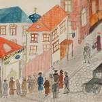 Очередь в булочную Н.И. Богомолова. Неизвестный автор. Москва. 1917