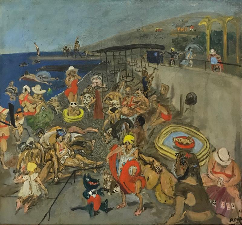"""Натта Конышева """"Пляж"""" 1984"""