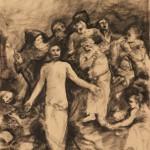 """Василий Чекрыгин """"Эскиз фрески """"Воскрешение"""" Начало 1920-х"""