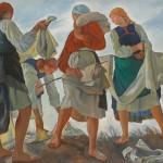 """Зинаида Серебрякова """"Беление холста"""" 1917"""