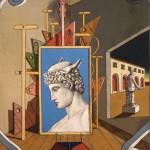 """Джорджо де Кирико """"Внутренняя метафизика с головой Меркурия"""" 1969"""
