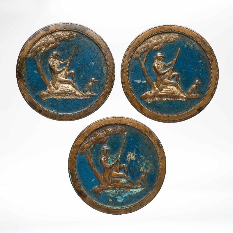 Пуговицы с изображением охотничьих сцен. Западная Европа. Конец 18 века