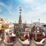 Дворец Гуэля, терраса на крыше. Барселона.