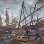 "Евгений Лансере ""Флот Петра Великого"" 1909"