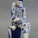 "Доброва Л.Г. ""Скульптура ""Девушка с шаром"" 1966"
