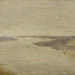 """Исаак Левитан """"Серый день. Волга. Этюд"""" 1886-1890"""