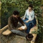 """Константин Коровин """"В лодке"""" 1888"""