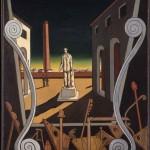 """Джорджо де Кирико """"Площадь Италии (Памятник поэту)"""" 1969"""
