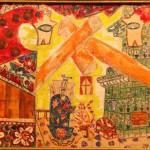 """Михаил Ларионов """"Эскиз декорации """"Русские сказки"""" 1915"""