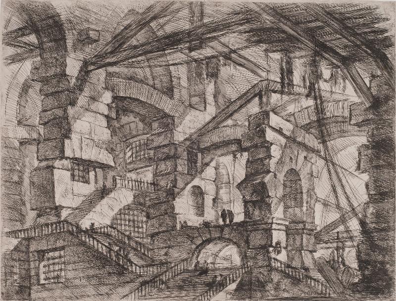 """Дж.Б. Пиранези """"Готическая арка. Лист XIV из серии """"Воображаемые тюрьмы"""" Около 1749-1750"""