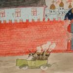 Обстрел Кремля. Неизвестный автор. Москва. Октябрь – ноябрь 1917