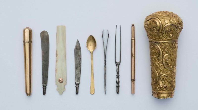 Набалдашник трости с различными принадлежностями. Западная Европа. Конец 18 века