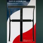 Плакат к выставке мебели в Доме Дании в Париже 1995