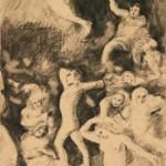 """Василий Чекрыгин """"Фрагмент фрески. Эскиз"""" 1921"""