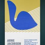 "Арне Якобсен ""Плакат к выставке Дизайн-центра Дании"" 1991"