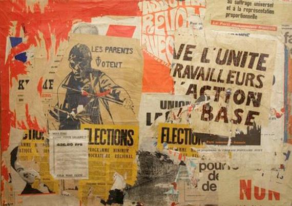 Жак Виллегле «Вокзал Монпарнас - Улица Отъезжающих». 12 июля 1968. Собрание Алерс, Ганновер