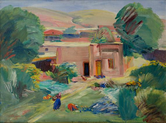Мартирос Сарьян «Домик в саду» 1935, Национальная галерея Армении, Ереван