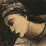 """Василий Чекрыгин """"Женская голова"""" 1920"""