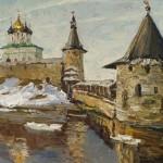 """Николай Давыдов """"Псков. Ледоход на реке Великой"""" 2013"""