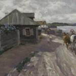 """Алексей Степанов """"Пригород"""" 1916"""