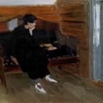 """15. Степанов Алексей """"Женщина на диване"""" 1912 Государственная Третьяковская галерея"""