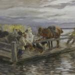"49. Степанов Алексей ""На пароме"" 1919 Собрание Ю.М. Носова"